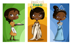 Chibis: Tiana by tugaMaggie