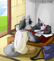 Drawing together? by Vent-Kazemaru