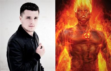 Josh Hutcherson as The Human Torch by TristanHartup