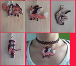 Fursona charms by Vavercraft