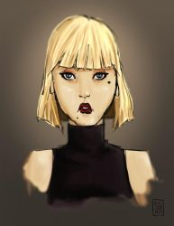 Blonde in black by StephanieGauthier