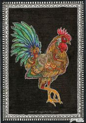 rooster by joannamalecka