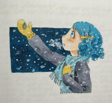 First snow  by reya-desu