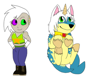Chibis: Vro and Heritance by rexyplexy