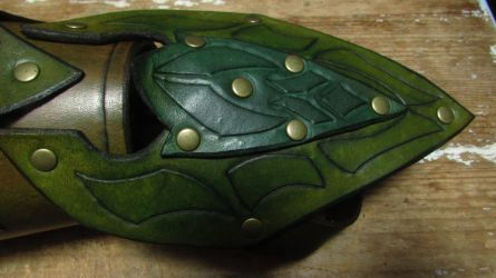 Elven Scout Bracer detail by BlueOakRogue