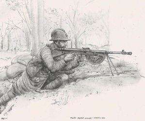 Chauchat Gunner by JesusFood