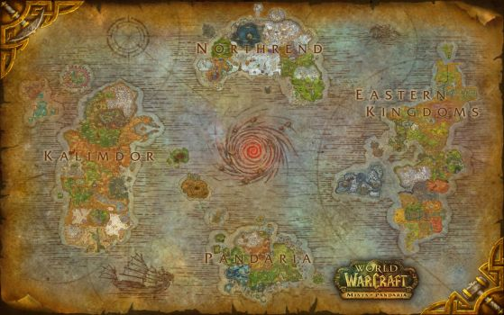 World of Warcraft Azeroth Composite Map - Updated by amiyuy