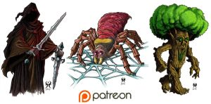 Patreon Rewards for May 2016 by artikid