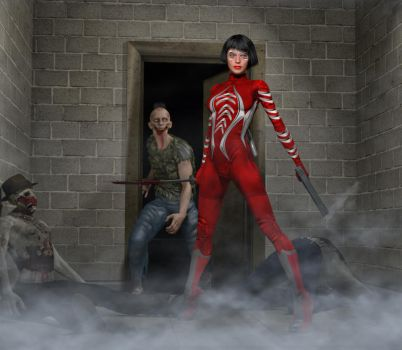 Red Suit 2nd skin textures for V4 by hiram67