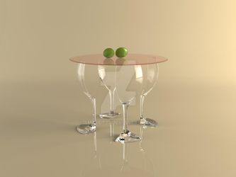 A Glass Of Red Wine Made Into A Table by smault23