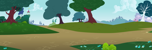 Group Background #11 - Ponyville Outskirts by MLP-Vector-Collabs