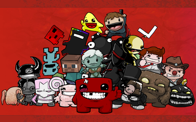 Super Meat Boy Wallpaper by TheInfamousTheft