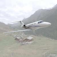 CessnaCitation CJ4 in the Mountains by VanishingPointInc