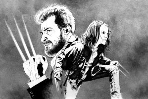 Wolverine and X-23 by jasonbaroody