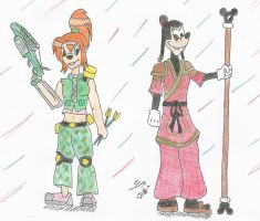 KH:Lost World: Max And Pistol by AuranianTitan