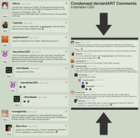 Condensed deviantART Comments by danlev
