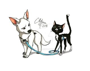 Bolt And Mittens by Chiterra
