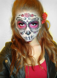 Sugar Skull (Day of the Dead Face Paint) 2 by Kisskiss64