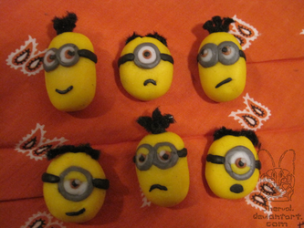Minion brooches by Sherval
