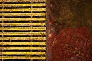 Red abstract Yellow Stripes by Moon-WillowStock
