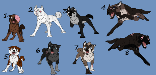 GDW Adoptables (0/8 CLOSED) by LumaTheDragonQueen