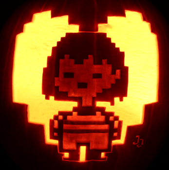 Stay Determined! - Frisk Pumpkin by johwee