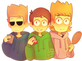 Happy Bois + Speedpaint by Forest-Ghosts