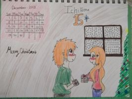 Ichime December 2013 Calender Colored by AlyHisanaKurosaki16