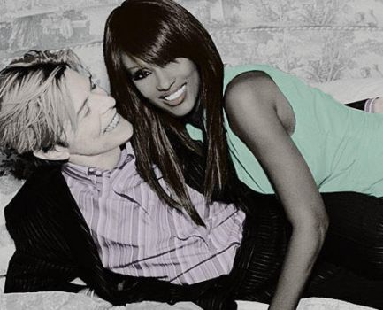David Bowie+Iman Colorization by The-Leopard