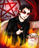 Crowley The King of Hell - Supernatural by Bluestars-Fire
