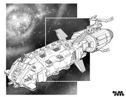 Battletech - Fearless Class Assault Ship. by sharlin