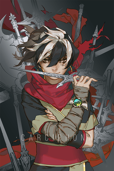Blackbird metallic character card design by shilin