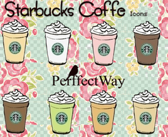 Starbucks Coffe Icons by PerffectWay