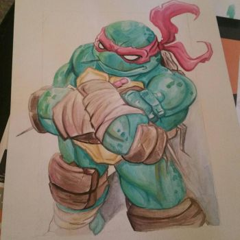 tmnt raph  watercolor by Dee9922