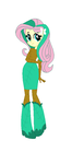 Fluttershy dressed as a tree.... I mean a Dryad by TheWalrusclown