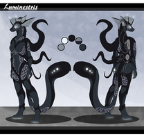 Commission - Luminestris Ref Sheet by Cryophase