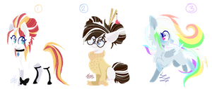 MLP Bred Adopts - Double Diamond Foals (Closed) by PsychoBerries