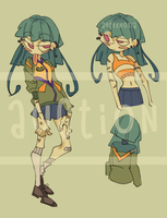 (CLOSE) AUCTION FROG GIRL by aeternoria