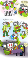 Omega Flowey ( and crack ship......?) by Creeperchild