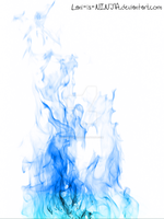 Blue flames with white background by Lani-is-NINJA