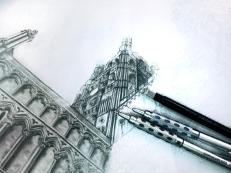 Ely Cathedral WIP by ianmckendrick