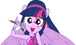 Twilight Sparkle singing by CloudyGlow