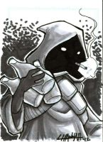 Smoking Jawa Sketchcard by stratosmacca