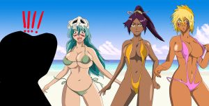 Bleach nel yoruichi halibel bikini group by greengiant2012