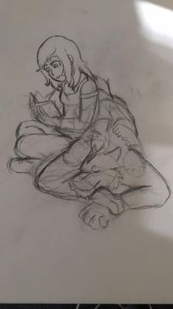 I love it when you read to me - sketch by Zire9