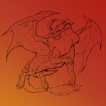 Teostra Line Art for my Art Blog by ChibiMaDemonPet