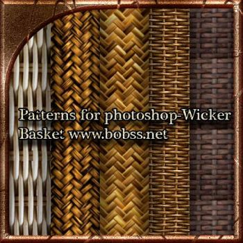 Patterns for photoshop-Wicker Basket by bobs66