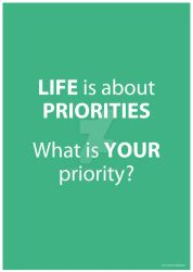 Life is about Priorities by lille-cp