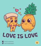 Love Is Love // Vote it on Qwertee!! by Geekydog
