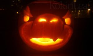 Bowser Jr Pumpkin2 - 2010 by Liefesa